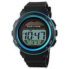 SKMEI Αντρικά Αθλητικό Ρολόι Ρολόι Καρπού Ψηφιακό LED Ημερολόγιο Χρονογράφος Ανθεκτικό στο Νερό συναγερμού Ηλιακή Ενέργεια Αθλητικό Ρολόι