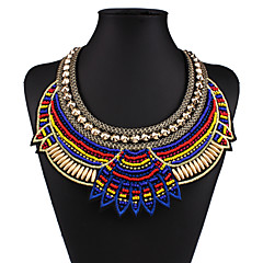 Womens Colorful Rhinestone Shell Handmake Necklace
