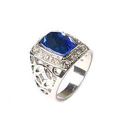 New Vintage Jewelry Women's Square-shaped Gem Rhinestone Ring