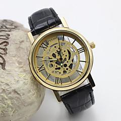 Dames Modieus horloge Kwarts Leer Band Bruin Merk-