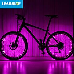 LEADBIKE Lampu Sepeda lampu roda 2 2 Mode 200 Sepeda Baterai 3AAA AAA Tahan air / Bisa Dicas Ulang / Mudah Carry Bersepeda 1-50Hijau /