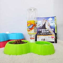 zucca doppia vasca di animale domestico di acqua potabile ciotola del gatto ciotola del cane ciotola tappeto bevanda da tavola acqua sul