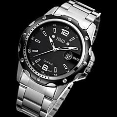 Herren Armbanduhr Japanischer Quartz Chronograph / Wasserdicht Edelstahl Band Silber Marke-