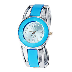 Women's Watch Bracelet Watch Blue Round Dial Cool Watches Unique Watches Fashion Watch Strap Watch