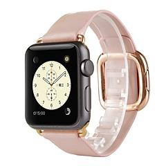 Watch band til æble ur 38mm moderne spænde ægte læder udskiftning båndrem