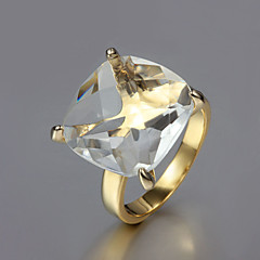 2015 Fashion Noble CZ Stone 18K Gold Plated Exaggerate Band Rings Party Rings For Woman