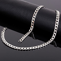 18k Silver Plated Matte 20 Inch(50cm) 7mm Widthd Chain Necklace Accessories for Men