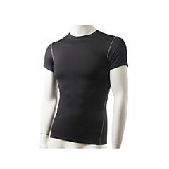 Camisa para Ciclismo Homens Moto Camiseta Blusas Respirável Secagem Rápida Redutor de Suor Cor Única Ioga