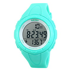 SKMEI Hommes Montre de Sport Montre Bracelet Numérique LCD Calendrier Chronographe Etanche penggera Energie solaire Montre de Sport