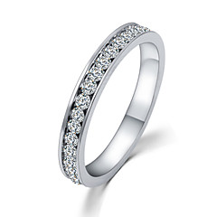 Lureme®  Simple Style Fashion  Luxury Studded With Drill  Alloy Rings