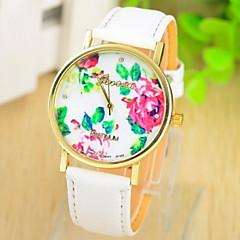 Women's Multicolor Print Bohemia Style PU Leather Band Analog Quartz Wrist Watch (Assorted color)
