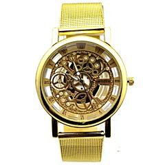 Heren Modieus horloge Kwarts Band Goud Merk-