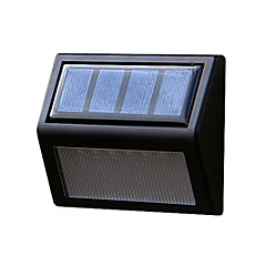 zonne-energie panel 6 leds muur lobby pathway hek licht huis buitentuin lamp traptrede yard led-verlichting