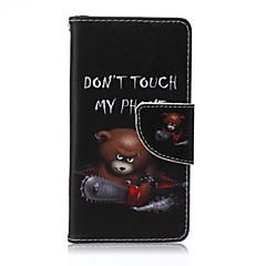 láncfűrész medve festett pu telefon esetében Sony Xperia Z5 kompakt
