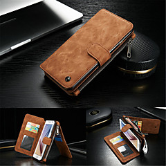 Full Body Wallet / with Stand Solid Color Genuine Leather Hard Case Cover For Samsung GalaxyS7 edge / S7 / S6 edge plus / S6 edge / S6 /