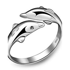 Ringe Einstellbar Party / Alltag / Normal Schmuck Sterling Silber Damen Bandringe 1 Set,Verstellbar