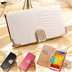 Luxury Wallet Card Crystal Bling PU Leather Case Rhinestone Phone Cover Case For Samsung Galaxy Note 3/Note 4/Note 5