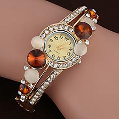 nuevas mujeres de la marca de cuarzo reloj de lujo pulsera de cristal plateado oro de la manera Relogio reloj feminino