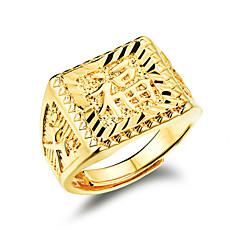 Pierścionki Ślub / Impreza / Codzienny / Casual / Sport Biżuteria Pozłacane Męskie Obrączki 1szt,Regulacja Złoty
