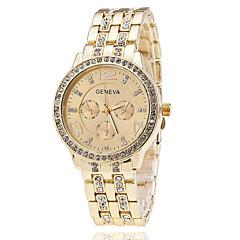 Mulheres Relógio Elegante Quartzo imitação de diamante Aço Inoxidável Banda Elegantes Prata Dourada Ouro Rose marca