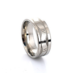 Simple Style Glaze  Roman Numerals Wave Alloy Rings