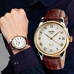 estilo britânico negócio da moda impermeável relógio ocasional calendário ponteiro dos homens