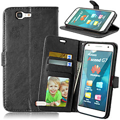 Full Body Wallet / Korttipaikka / telineellä Yhtenäinen väri Tekonahka Kova Tapauksessa kattaa HuaweiHuawei P8 Lite / Huawei P7 / Huawei