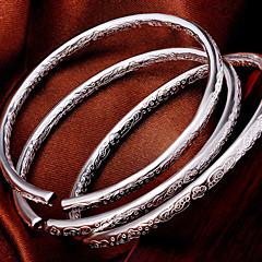 S925 Pure Stering Silver Open Bangle Bracelet