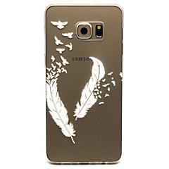 Para Samsung Galaxy Capinhas Transparente Capinha Capa Traseira Capinha Pena TPU Samsung S6 edge plus / S6 edge / S6 / S5 Mini / S5