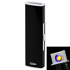 258 Double-sided USB Charge  Personality U Arc lighters  Black, Blue, Rose Red ,Gold