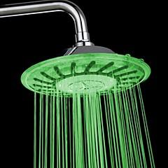 8 inch fokozatú ABS krómozott vezetett eső zuhanyfej színes változó zuhanyfej
