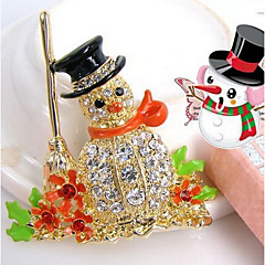 chegada nova moda jóias de strass broche populares de Papai Noel