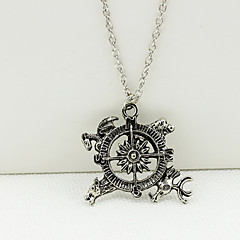 Women's Retro Alloy Game of Thrones Pendant Sweater Chain Necklace 1pc