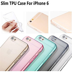 """heiße verkaufende ultradünne Design weichen flexiblen transparenten TPU für iPhone 6 / 6S 4.7 """"- (verschiedene Farben)"""