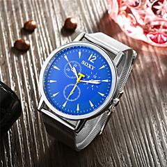mode klassiska stil klockor rostfritt stålnät bälte quartz armbandsur för män kvinnor