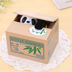 Bamboo Panda Electric Coin Bank/Money Saving Box/Toy(2xAA)
