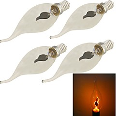 YouOKLight® 4PCS The Bar E14 1.5W 100lm Red Light Flame Lamp Fire flashing Candle Bulbs (AC 220-240V)