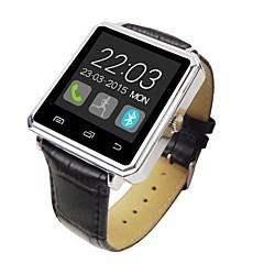 "bluetooth v4.0 cas bracelet en cuir métallique 1,44 ""tft montre intelligente avec podomètres dormir Tracker"