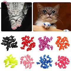 divertimento di Pets® nuovo tappo 20pcs / lot dell'animale domestico morbido gatto / cane grooming Paws artiglio chiodo zampe di controllo