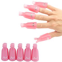10st verwijderen nagellak clip kan herhaaldelijk worden gebruikt losweken clip cap willekeurige kleur