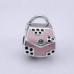 Sterling Silver Bead S925 Bracelet Necklace Bead  for European Charm Silver Bracelets Handbag