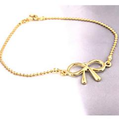 Dame Ankel minimalistisk stil Hul Legering Butterfly Form Sølv Smykker For Fest Daglig Afslappet 1 Stk.