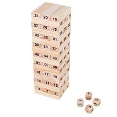 mini-bilan de jouets Wiss 54 blocs en bois jouet