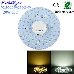 YouOKLight® 20W 1800Lm  100-2835SMD Warm White Light / White Light LED Ceiling Light(AC110-120V/220-240V)