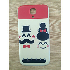 Drill and Getleman Couple Face Pattern PC Back Cover Case for Samsung Galaxy S4/9500