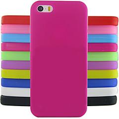 effen kleur jelly siliconen case ontwerp patroon voor iphone 5c (verschillende kleuren)