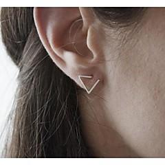 Dam Dubb Örhängen Minimalistisk Stil Justerbara Mode kostym smycken Legering Triangle Form Smycken Till Party Dagligen Casual