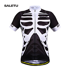 SALETU New Men's Cycling Clothing Bike Sportswear Short Sleeve Top Shirt Bicycle Quick-Dry Cycling Jerse