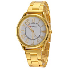 JUBAOLI® Women's Casual Design Gold Alloy Band Quartz Wristwatch Cool Watches Unique Watches