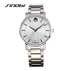 Masculino Relógio de Pulso Quartz Impermeável / Relógio Esportivo Lega Banda Prata marca- SINOBI